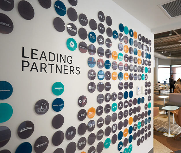 Grand Rapids Chamber Leading Partners Wall Display