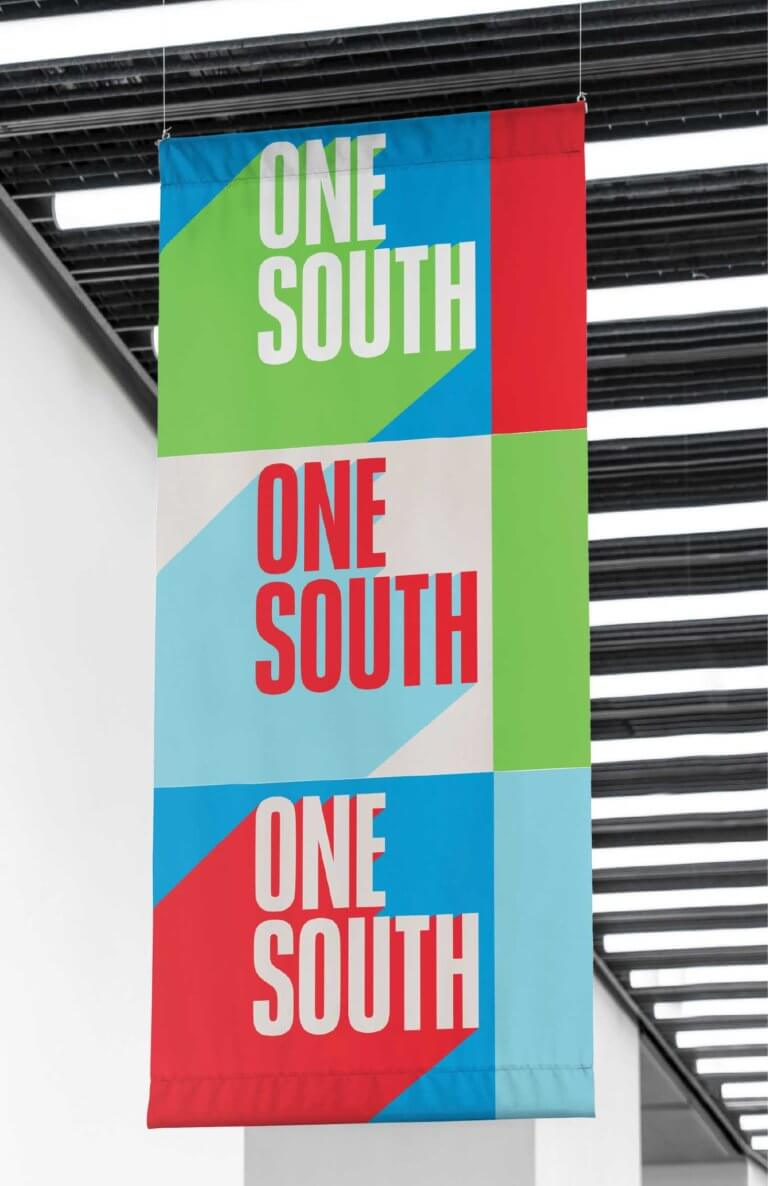 One South Hanging Banner